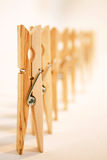 Marching Clothes Pins Royalty Free Stock Images