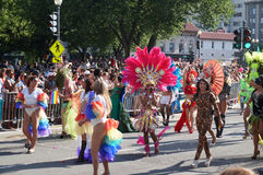 Marching Drag Queens at the Parade Stock Image