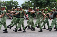 Marching drills Stock Image