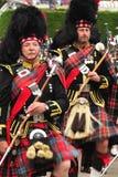 Marching Drum Majors, Braemar, Scotland Royalty Free Stock Photos