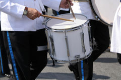 Marching drummer. In official uniform Stock Photography