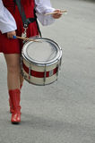 Marching Drummer Royalty Free Stock Image