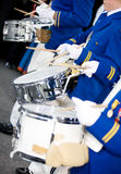 Marching Drummers. In a parade royalty free stock images
