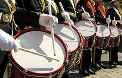 Marching drummers Stock Photo