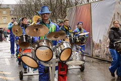 Marching drums at Carnival parade, Stuttgart Stock Images