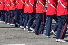 Marching feet Royalty Free Stock Photography