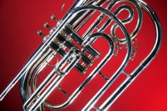 Marching French Horn Red Royalty Free Stock Photos
