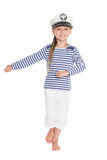 Marching girl in costume cabin boy Stock Image
