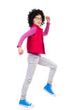 Marching girl Stock Images