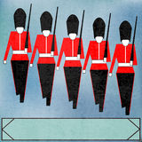 Marching Guardsmen Royalty Free Stock Image
