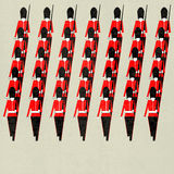 Marching Guardsmen Stock Photo