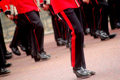 Marching guardsmen Royalty Free Stock Photography