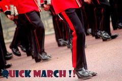 Marching guardsmen Stock Photography