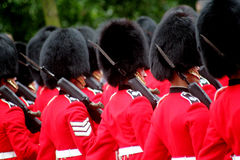 Marching Guardsmen Stock Photo