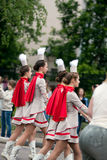 Marching majorettes. Stock Images