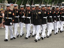 Marching Marines Stock Images