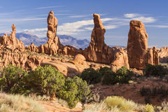 Marching Men and La Sal Mountains Royalty Free Stock Photography