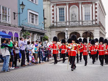 Marching Military band in Royal Windsor Royalty Free Stock Images