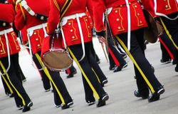Marching Military Musicians Stock Image