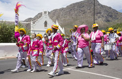 Marching minstrel band South Africa Stock Photo