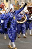 Marching pierrots (carnival) Stock Photos