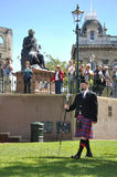 Marching pipe band major Royalty Free Stock Photography