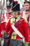 Marching Redcoat soldiers Royalty Free Stock Photos