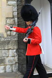 Marching Royal Guard Stock Photography