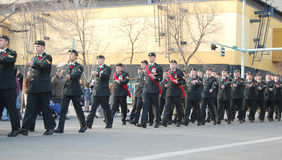 Marching Soldiers Stock Images