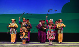 """Marching soldiers of Jin Dynasty --Peking opera """"Little Worriors of Yeuh's family"""" Royalty Free Stock Photography"""