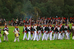Marching soldiers Royalty Free Stock Images