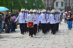 Marching soldiers Royalty Free Stock Photo