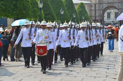 Marching soldiers Royalty Free Stock Image