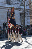 Marching in St. Patrick's Day Parade. Confederate Soldiers marching in NYC St. Pat's Day Parade - Circa 2011 Royalty Free Stock Photography