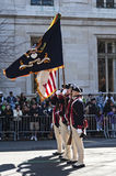 Marching in St. Patrick's Day Parade. Confederate Soldiers marching in NYC St. Pat's Day Parade - Circa 2011 Stock Photography