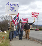 Marching in support of Lavoy Finicum. Stock Photo