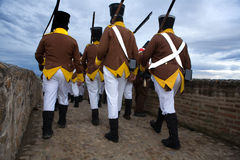 Marching to the battle Stock Photos