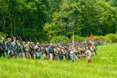 Marching to battle Royalty Free Stock Images