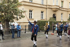 Marching to the oktober fest Royalty Free Stock Photo