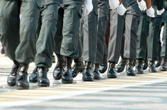 Marching in unision Stock Photos