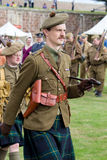 Marching World War 1 Soldier Stock Photo
