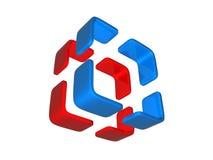 marchio 3D illustrazione di stock