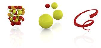 marchio astratto 3d Immagini Stock Libere da Diritti