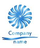 Logo blu del cerchio 3D Fotografie Stock