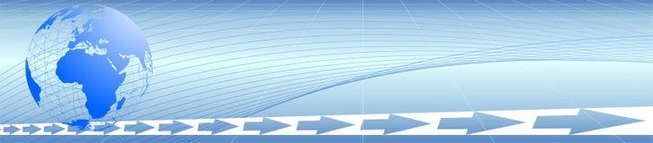 Logo blu del mondo Fotografia Stock Libera da Diritti