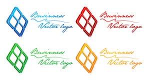 logo blu di prosperità 3D Fotografia Stock Libera da Diritti