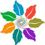 Marchio Colourful del foglio illustrazione di stock