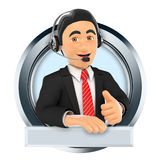 marchio 3d Call center Servizio personalizzato illustrazione di stock