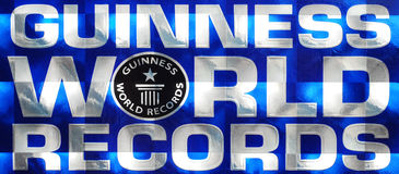 Marchio dei record del mondo del Guinness Fotografie Stock Libere da Diritti