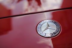 Marchio del benz di Mercedes Fotografie Stock Libere da Diritti
